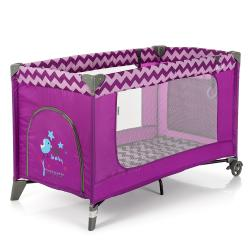 Манеж ME 1016 SAFE Purple Zigzag